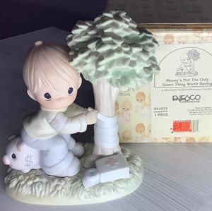 Precious Moments boy by 🌳 tree